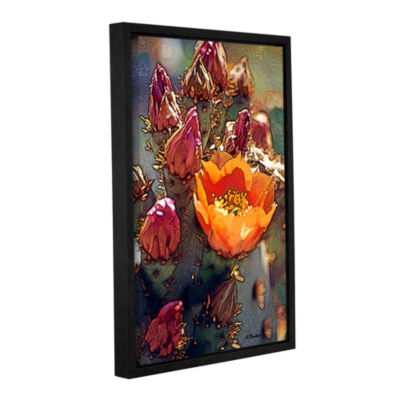 Brushstone First Bloom Gallery Wrapped Floater-Framed Canvas Wall Art