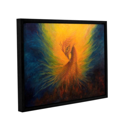 Brushstone Firebird Gallery Wrapped Floater-FramedCanvas Wall Art