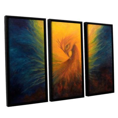 Brushstone Firebird 3-pc. Floater Framed Canvas Wall Art