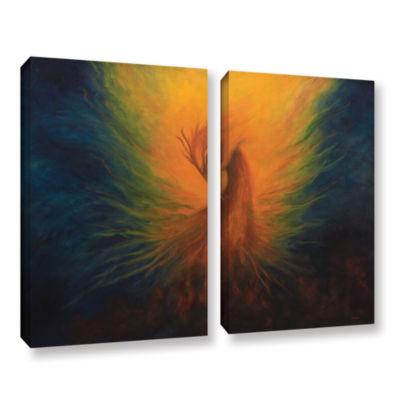 Brushstone Firebird 2-pc. Gallery Wrapped Canvas Wall Art