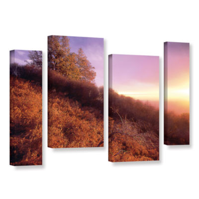 Brushstone Fire Light 4-pc. Gallery Wrapped Staggered Canvas Wall Art