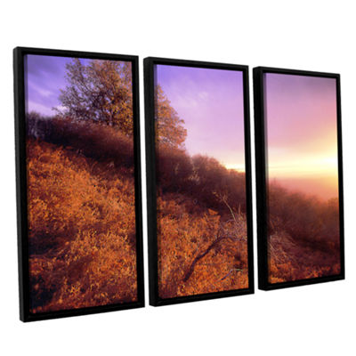 Brushstone Fire Light 3-pc. Floater Framed CanvasWall Art