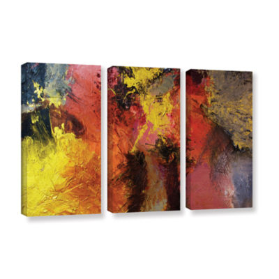 Brushstone Fire And Brimstone 3-pc. Gallery Wrapped Canvas Wall Art