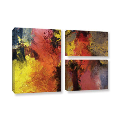 Brushstone Fire And Brimstone 3-pc. Flag Gallery Wrapped Canvas Wall Art