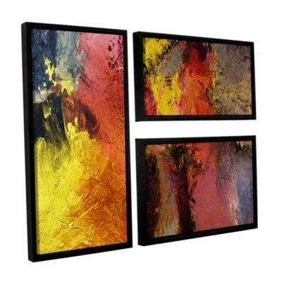Brushstone Fire And Brimstone 3-pc. Flag Floater Framed Canvas Wall Art