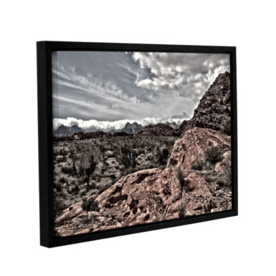 Brushstone Fingertip Afternoon Gallery Wrapped Floater-Framed Canvas Wall Art
