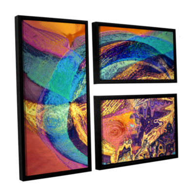 Brushstone Fiesta 3-pc. Flag Floater Framed CanvasWall Art
