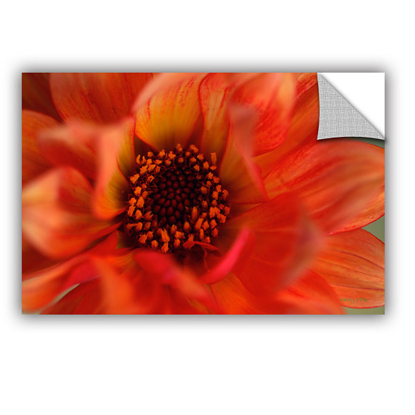 Brushstone Fiery Dahlia Removable Wall Decal