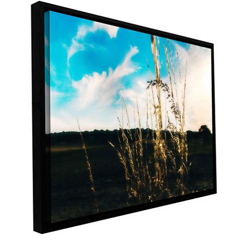 Brushstone Field Gallery Wrapped Floater-Framed Canvas Wall Art