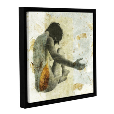 Brushstone Female With Opening Hand Gallery Wrapped Floater-Framed Canvas Wall Art