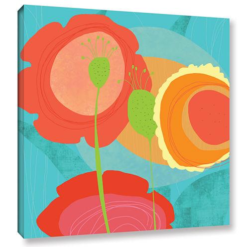 Brushstone Feeling Like Aqua Ii Gallery Wrapped Canvas Wall Art