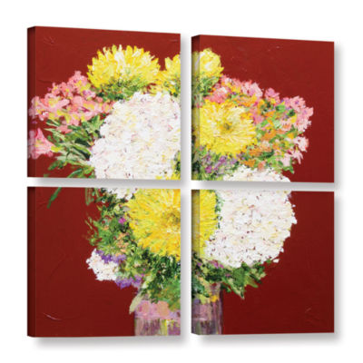 Brushstone Feeling Happy 4-pc. Square Gallery Wrapped Canvas Wall Art