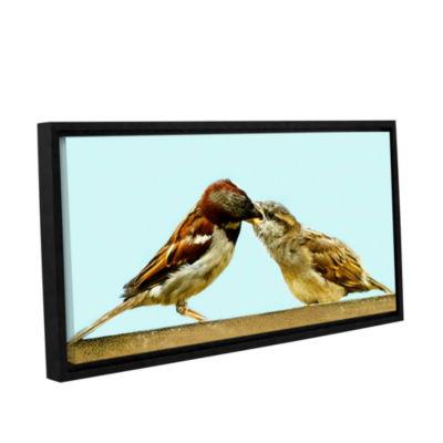 Brushstone Feeding 1 Gallery Wrapped Floater-Framed Canvas Wall Art
