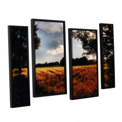 Brushstone Farmville 4-pc. Floater Framed Staggered Canvas Wall Art