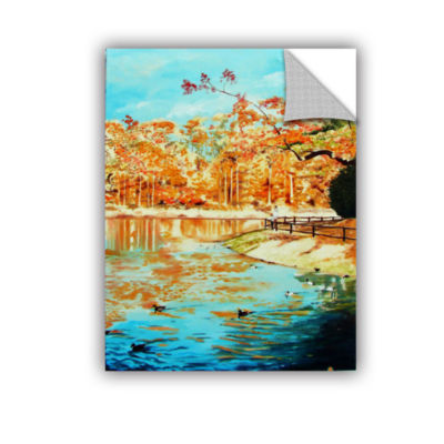 Brushstone Fall At Lily Pond 2 Removable Wall Decal