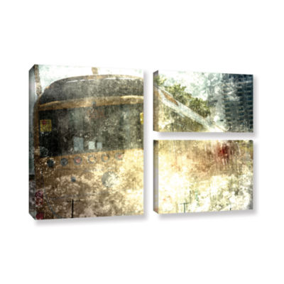 Brushstone Fade 3-pc. Flag Gallery Wrapped CanvasWall Art