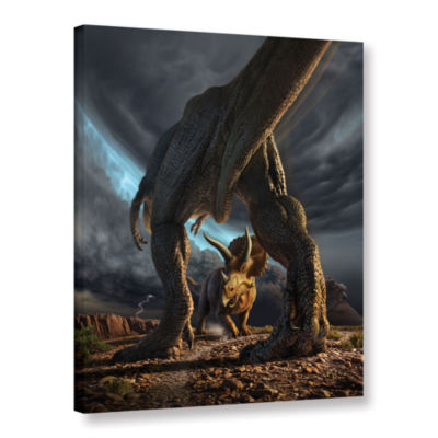 Brushstone Face Off Gallery Wrapped Canvas Wall Art