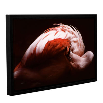 Brushstone Fabulous Flamingo Gallery Wrapped Floater-Framed Canvas Wall Art