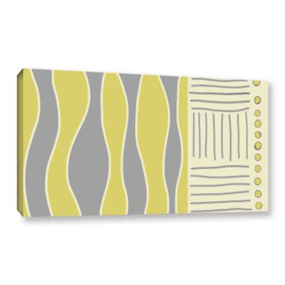 Brushstone Fabric Design I Gallery Wrapped CanvasWall Art