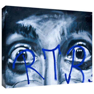Brushstone Eyes Wall Gallery Wrapped Canvas Wall Art