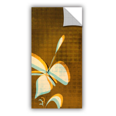 Brushstone Expresso Floral II Removable Wall Decal