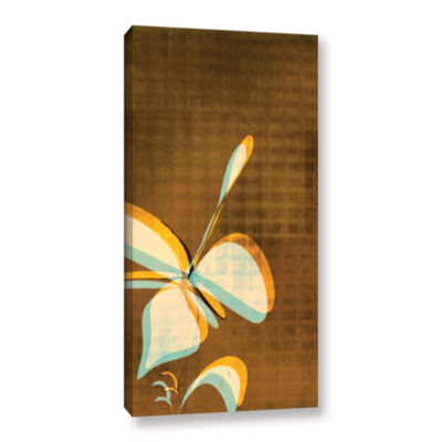 Brushstone Expresso Floral Ii Gallery Wrapped Canvas Wall Art