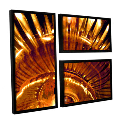 Brushstone Energy Actualized 3-pc. Flag Floater Framed Canvas Wall Art