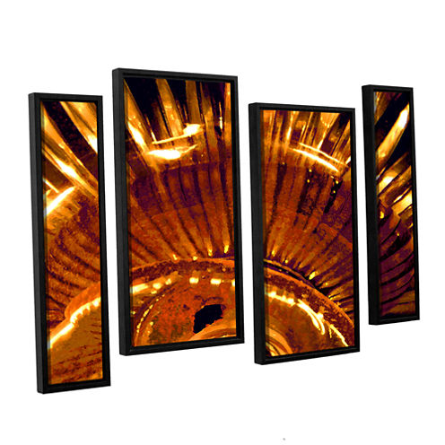 Brushstone Energy Actualized 4-pc. Floater Framed Staggered Canvas Wall Art