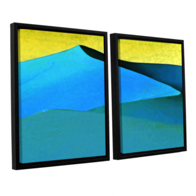Brushstone Evening At The Dunes 2-pc. Floater Framed Canvas Wall Art