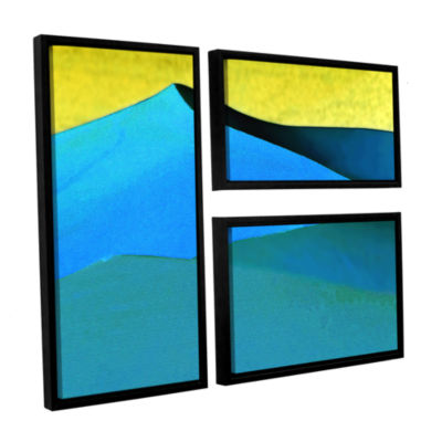 Brushstone Evening At The Dunes 3-pc. Flag FloaterFramed Canvas Wall Art