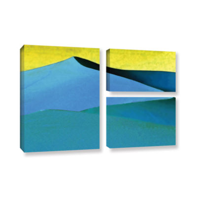 Brushstone Evening At The Dunes 3-pc. Flag GalleryWrapped Canvas Wall Art
