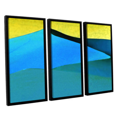 Brushstone Evening At The Dunes 3-pc. Floater Framed Canvas Wall Art