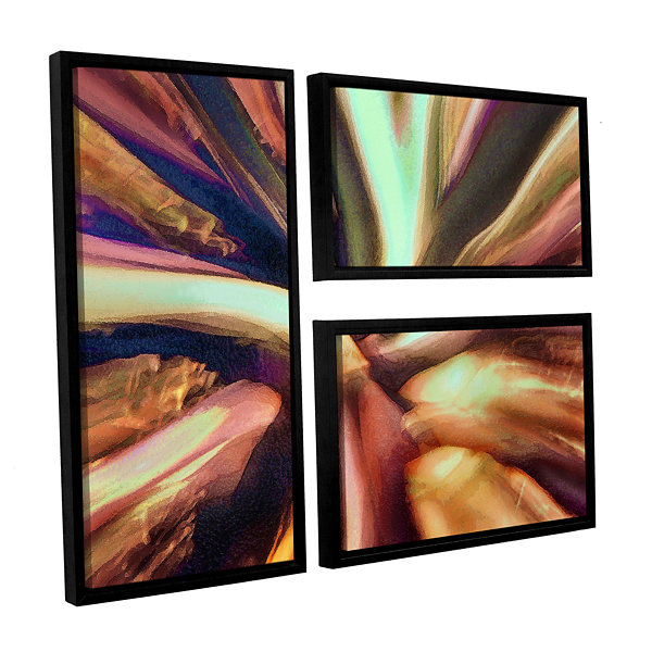 Brushstone Espectro Suculenta 3-pc. Flag Floater Framed Canvas Wall Art