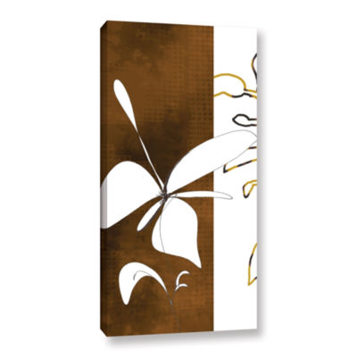 Brushstone Espresso Floral I Gallery Wrapped Canvas Wall Art