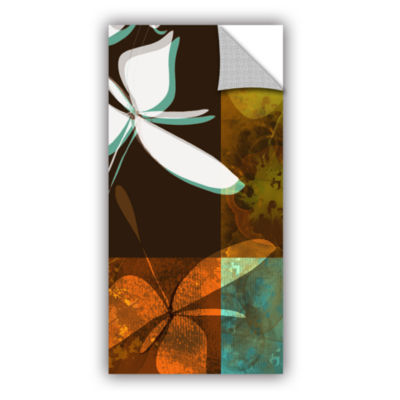 Brushstone Espresso Floral Ii Removable Wall Decal