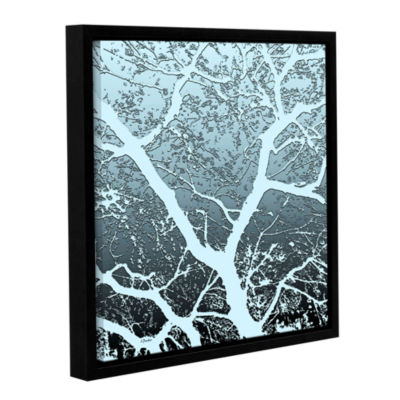 Brushstone Evening Light On Tree Gallery Wrapped Floater-Framed Canvas Wall Art