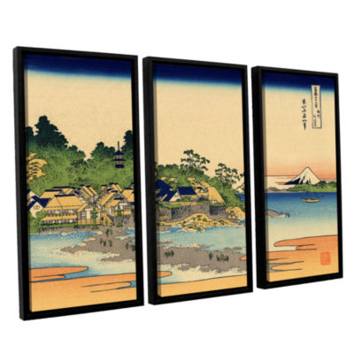 Brushstone Enoshima In The Sagami Province 3-pc. Floater Framed Canvas Wall Art