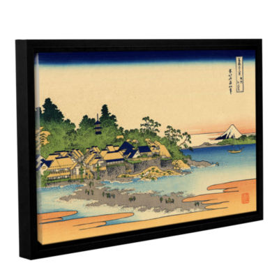 Brushstone Enoshima In The Sagami Province GalleryWrapped Floater-Framed Canvas Wall Art