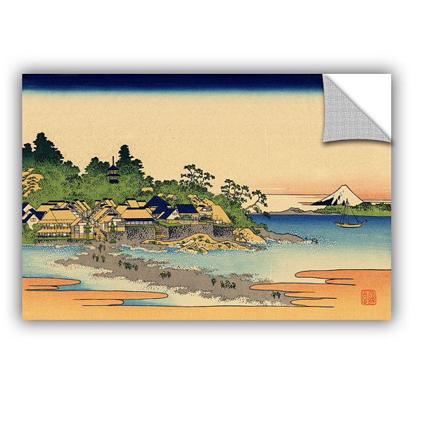 Brushstone Enoshima In The Sagami Province Removable Wall Decal