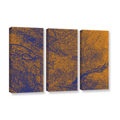Brushstone Entangled 3-pc. Gallery Wrapped CanvasWall Art