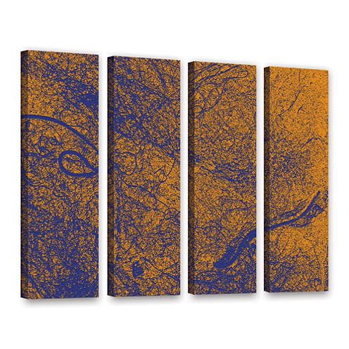 Brushstone Entangled 4-pc. Gallery Wrapped CanvasWall Art