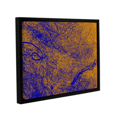 Brushstone Entangled Gallery Wrapped Floater-Framed Canvas Wall Art