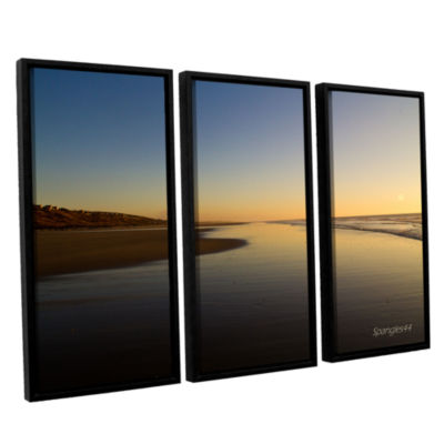 Brushstone Equihen Plage 3-pc. Floater Framed Canvas Wall Art
