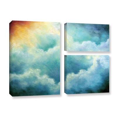 Brushstone Evidence Of Angels 3-pc. Flag Gallery Wrapped Canvas Wall Art