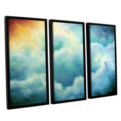 Brushstone Evidence Of Angels 3-pc. Floater FramedCanvas Wall Art