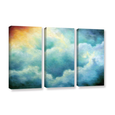 Brushstone Evidence Of Angels 3-pc. Gallery Wrapped Canvas Wall Art