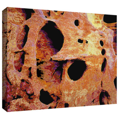 Brushstone Erosion Glow Gallery Wrapped Canvas Wall Art