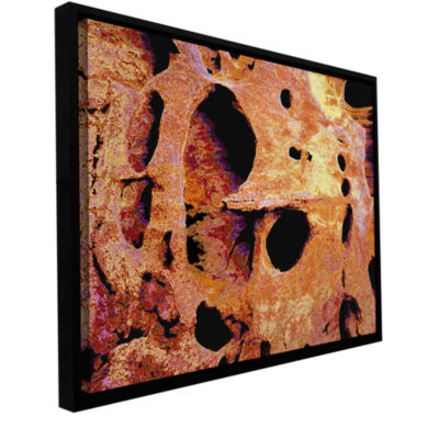 Brushstone Erosion Glow Gallery Wrapped Floater-Framed Canvas Wall Art