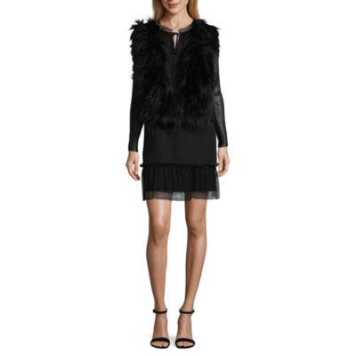 Libby Edelman Faux Fur Moto Jacket