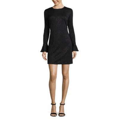 Libby Edelman Bell Sleeve Sheath Dress